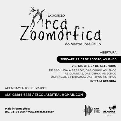 Exposição Arca Zoomórfica em Maceió